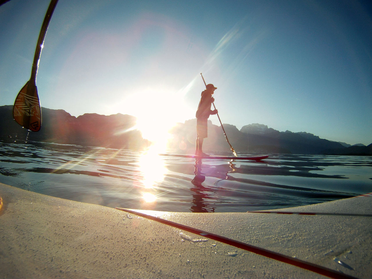 La petite session de stand up paddle du matin qui va bien